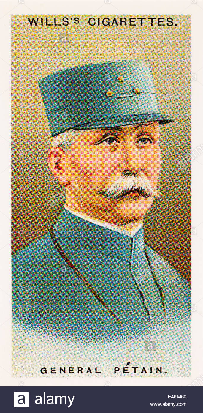 Wills cigarette card General Henri Philippe Petain 1856-1951. EDITORIAL ONLY - Stock Image