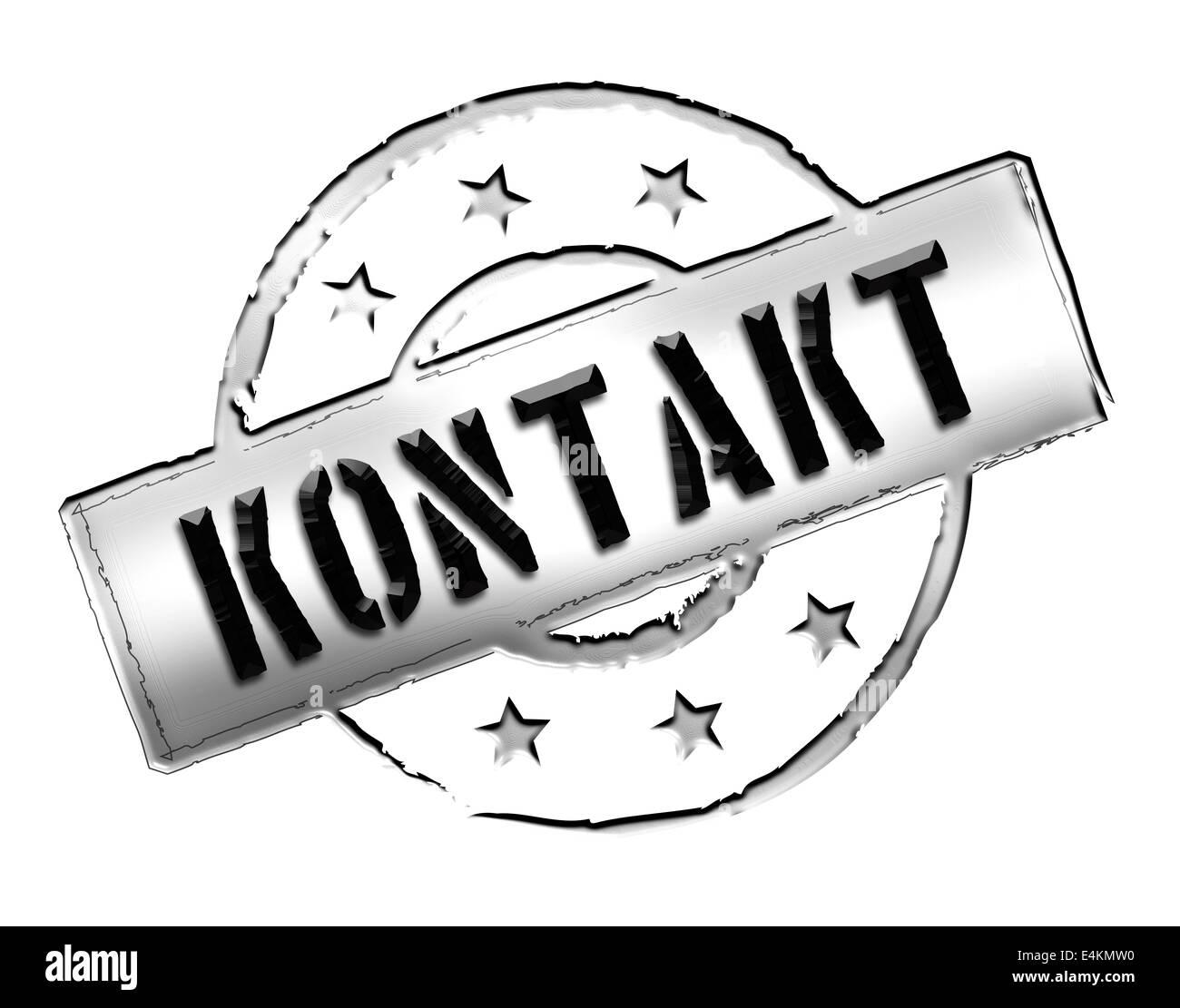 Stamp - KONTAKT Stock Photo