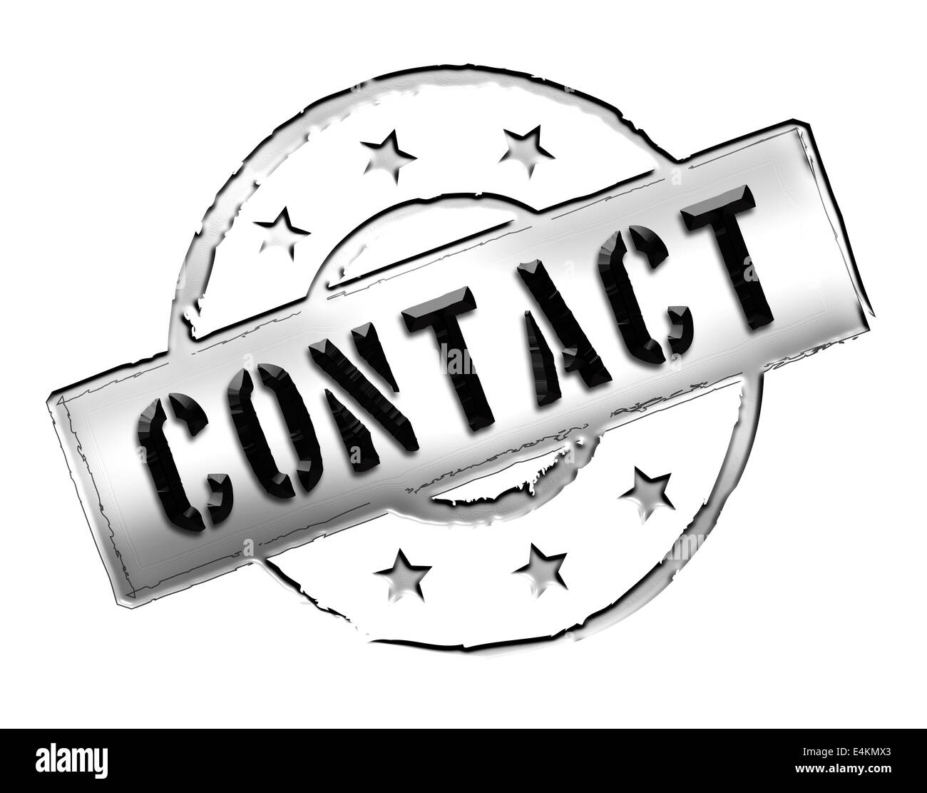 Stamp - CONTACT Stock Photo