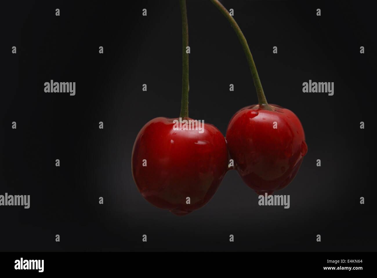 fresh cherry - Stock Image