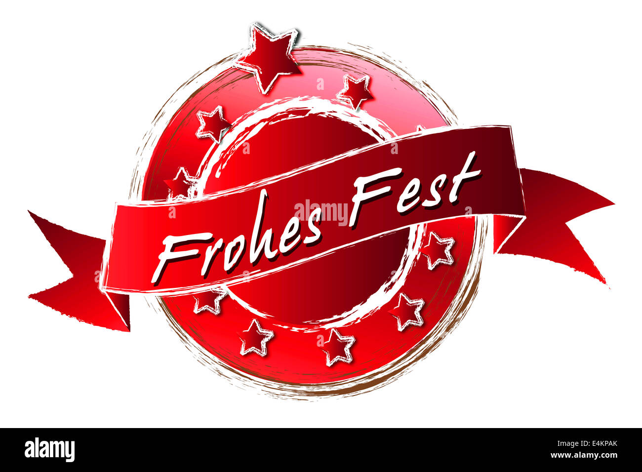 Royal Grunge - Frohes Fest - Stock Image