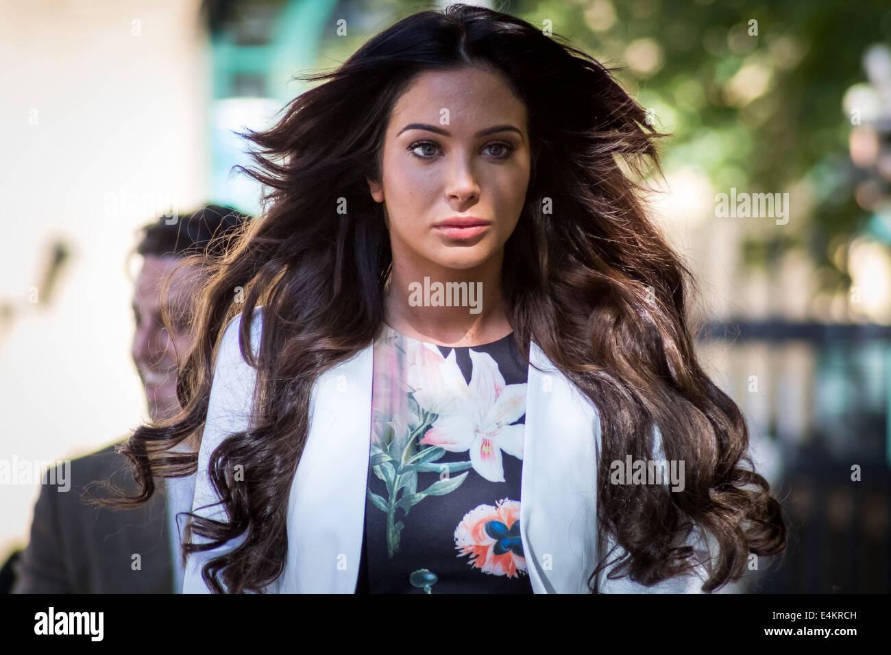 London, UK. 14th July, 2014. Tulisa Contostavlos arrives at Southwark Crown Court in London Credit:  Guy Corbishley/Alamy - Stock Image