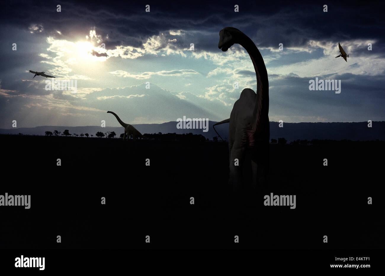 Brachiosaurier Stock Photo