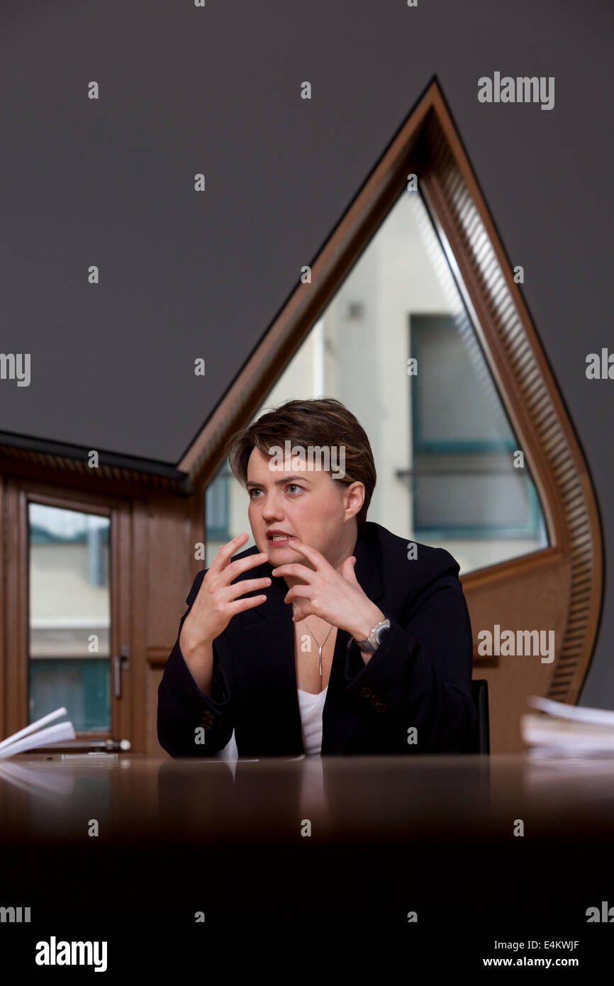 Ruth Davidson, MSP, Leader of the Scottish Conservative and Unionist Party. - Stock Image