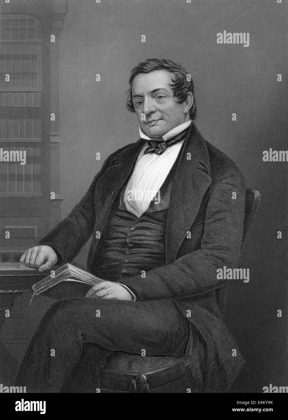 Washington Irving, 1783 - 1859, an American author and diplomat, - Stock Image