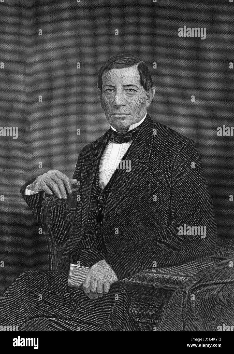 Benito Juárez García, 1806 - 1872, a Mexican statesman and president of Mexico, - Stock Image