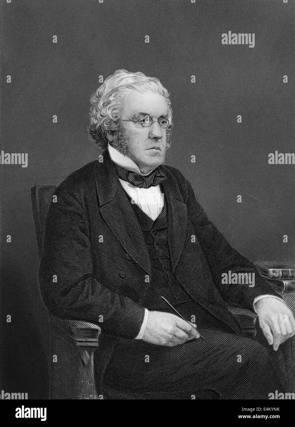 William Makepeace Thackeray, 1811 - 1863, an English writer - Stock Image