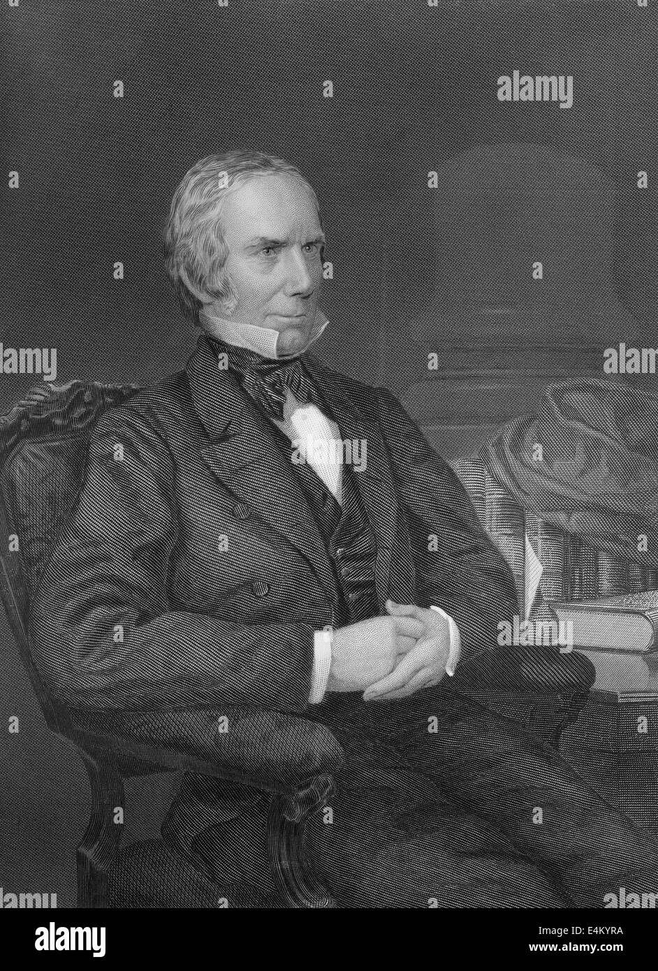 Henry Clay, Sr., 1777 - 1852, an American lawyer, politician, - Stock Image