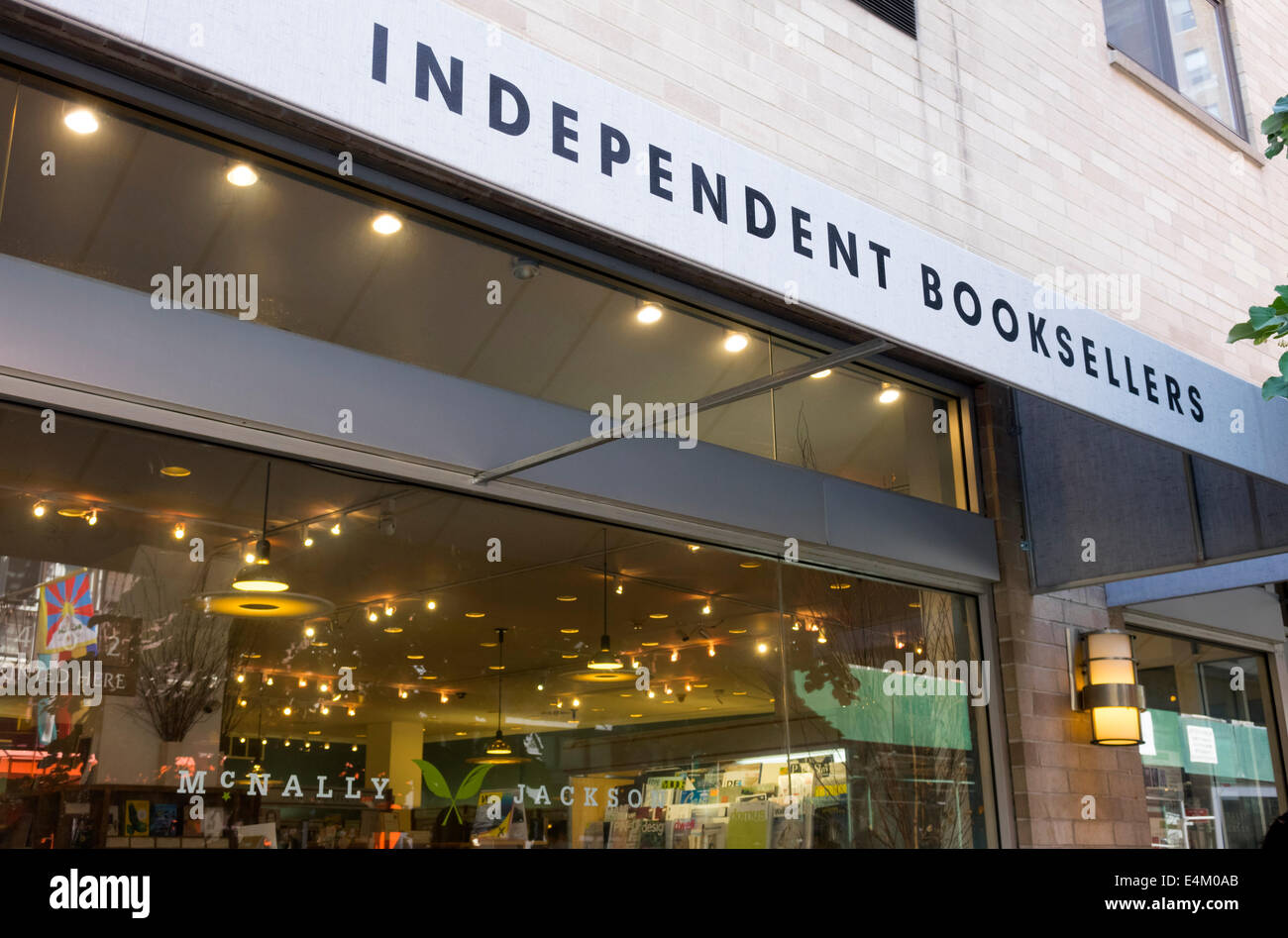 An Independent Booksellers store in Nolita in New York City - Stock Image