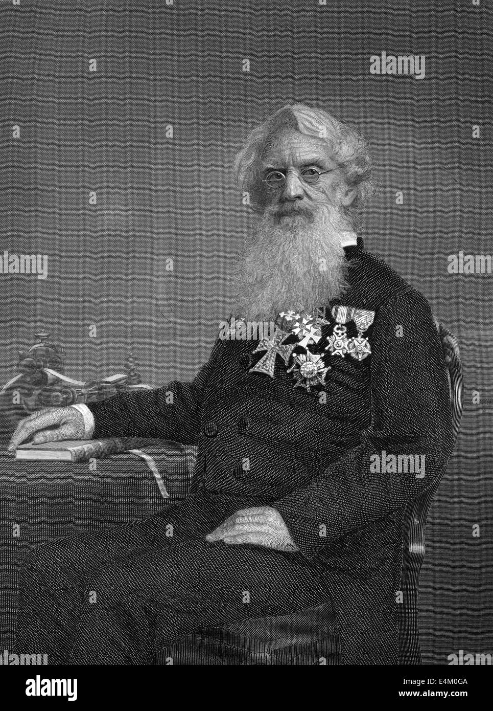 Samuel Finley Breese Morse, 1791 - 1872, an American painter and inventor, - Stock Image