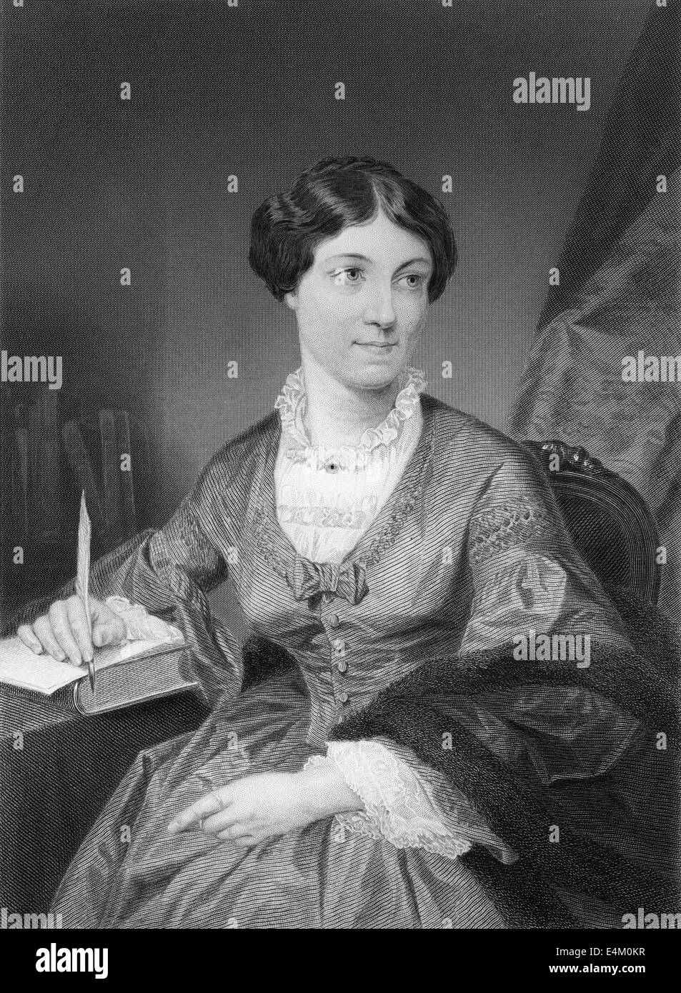 Harriet Martineau, 1802 - 1876, an English social theorist and Whig writer, - Stock Image