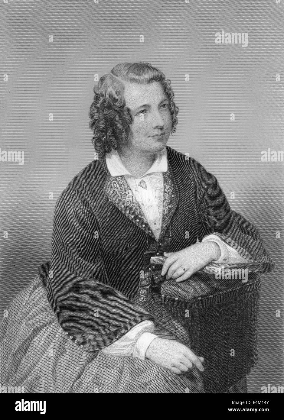 Eliza Cook, 1818 - 1889, an English author, - Stock Image
