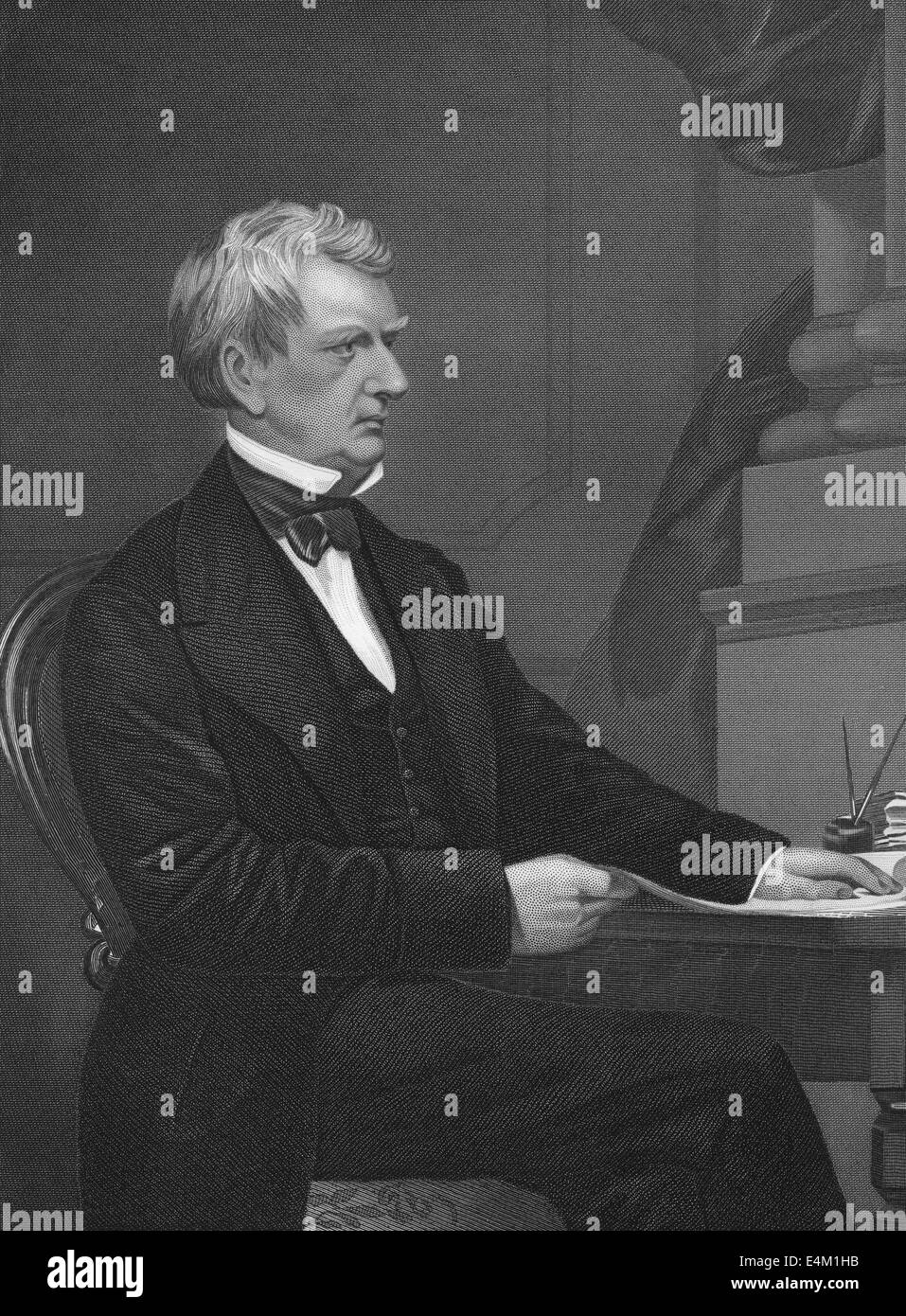 William Henry Seward, 1801 - 1872, an American politician, 12th Governor of New York - Stock Image