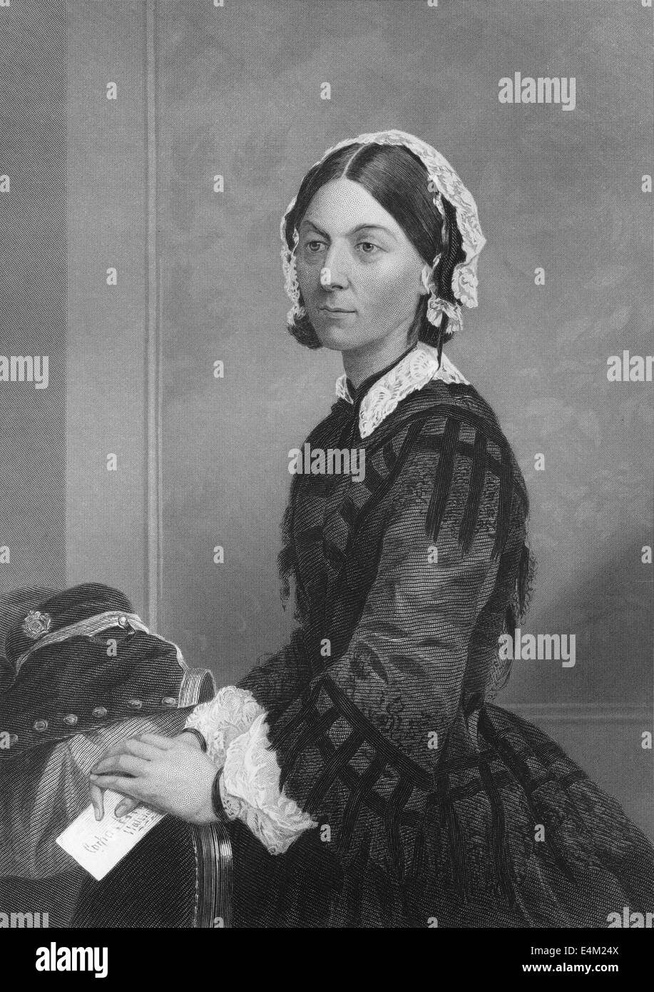 Florence Nightingale, 1820 - 1910, an English social reformer and the founder of modern nursing, - Stock Image