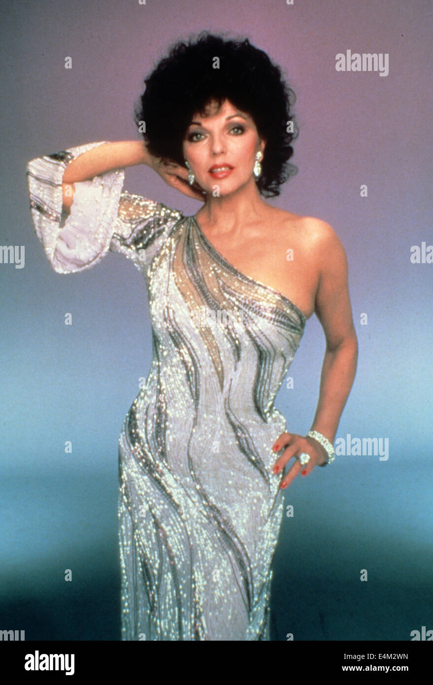 DYNASTY  Aaron Spelling US TV series (1981-89) with Joan Collins - Stock Image