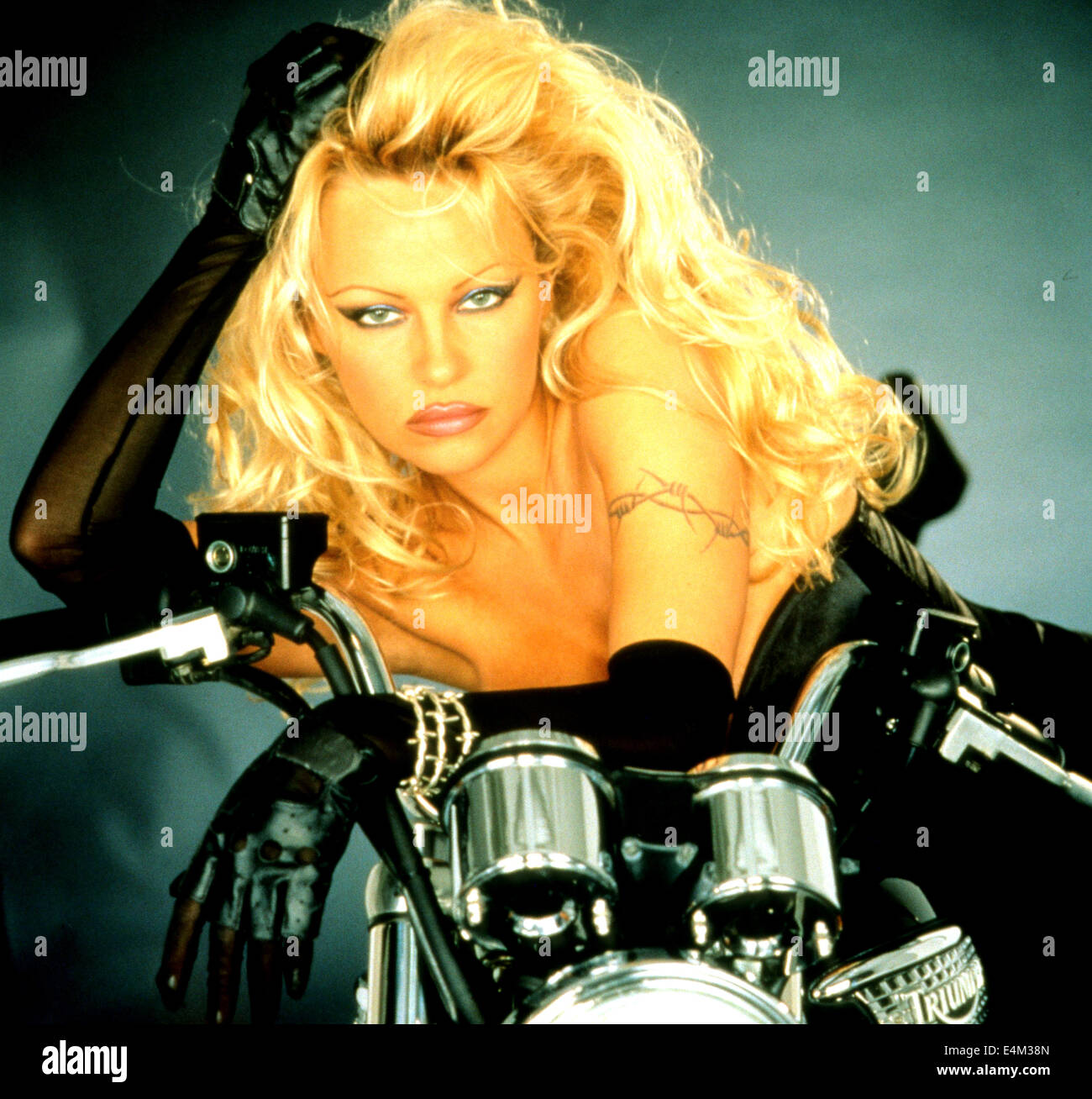 Barb wire polygram film with pamela anderson stock