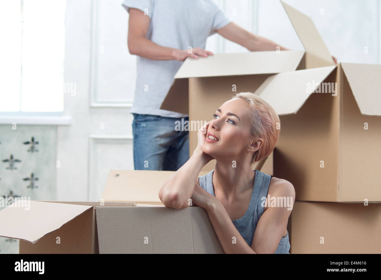 Removal is not easy thing - Stock Image