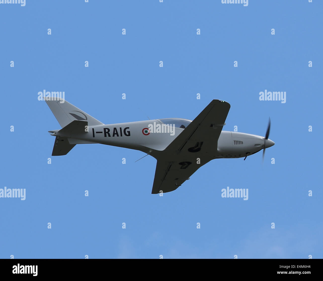 Farnborough, Hampshire, UK. 14th July, 2014. Blackshape BS100 will be displayed together with Alenia Aermacchi  - Stock Image
