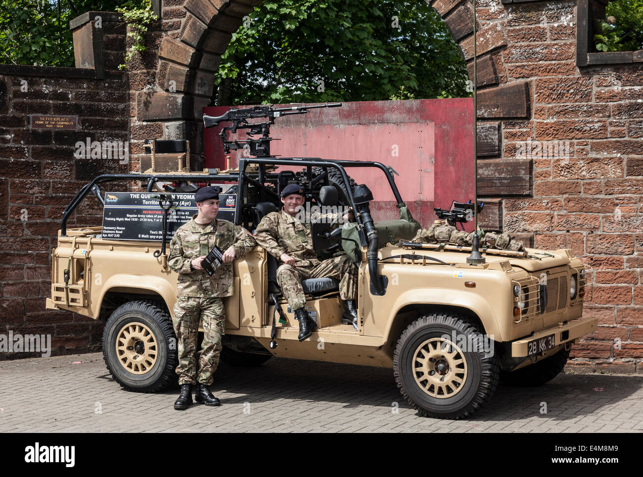 Members of the Queen's Own Yeomanry - Ayrshire (Earl of Carrick's Own) Squadron of the Territorial army - Stock Image