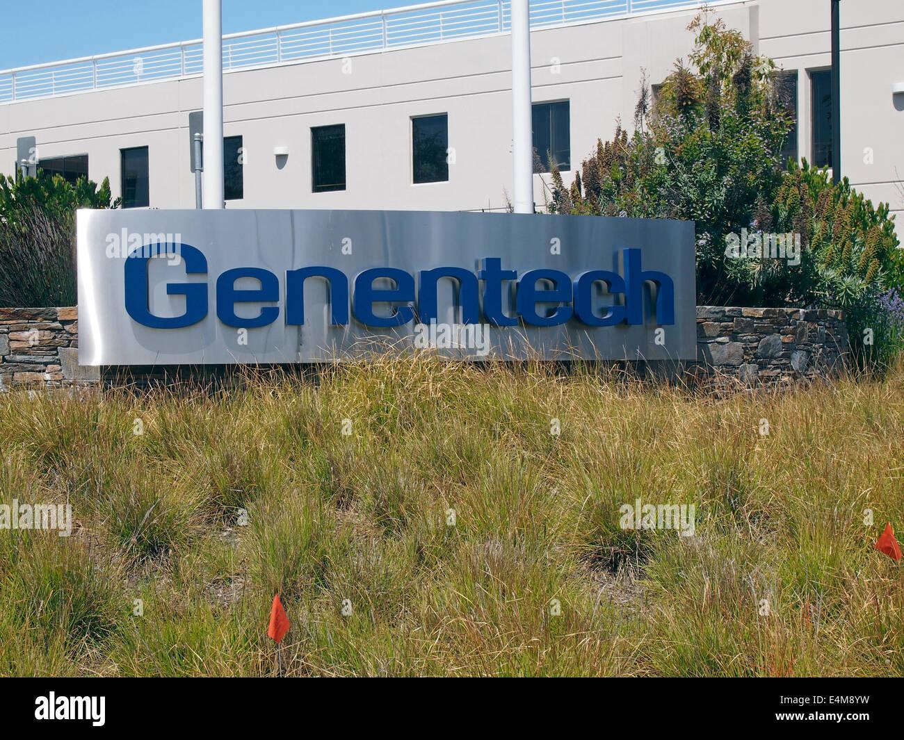 Genentech corporate headquarters, South San Francisco, California - Stock Image