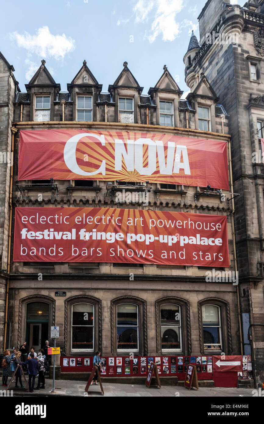C Nova, a large multiplex venue ('pop up palace') for Edinburgh Festival Fringe in the India Buildings on - Stock Image