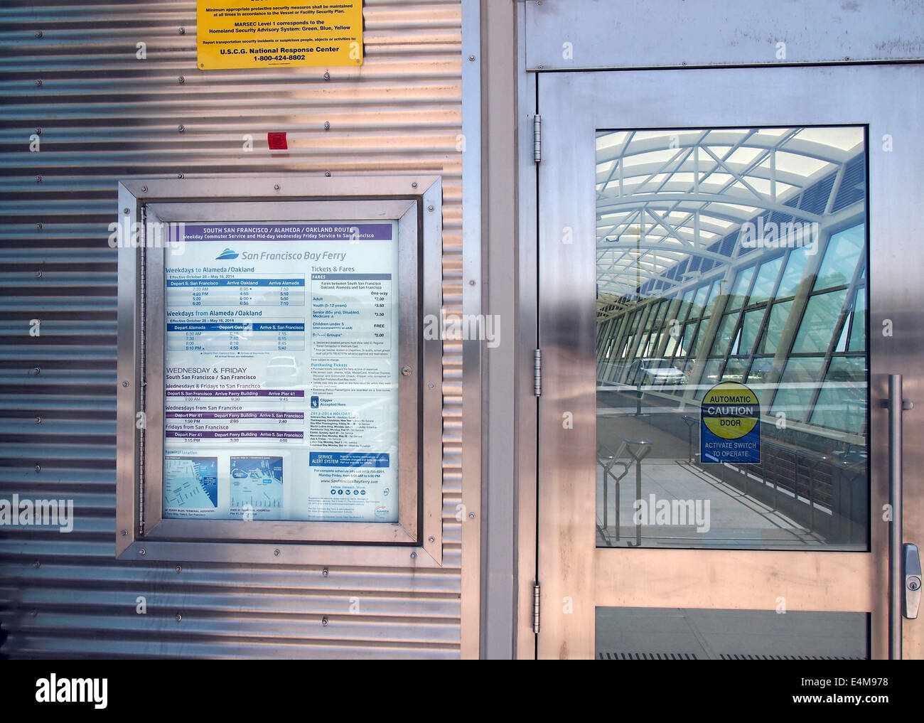 Ferry boat terminal entrance - Stock Image