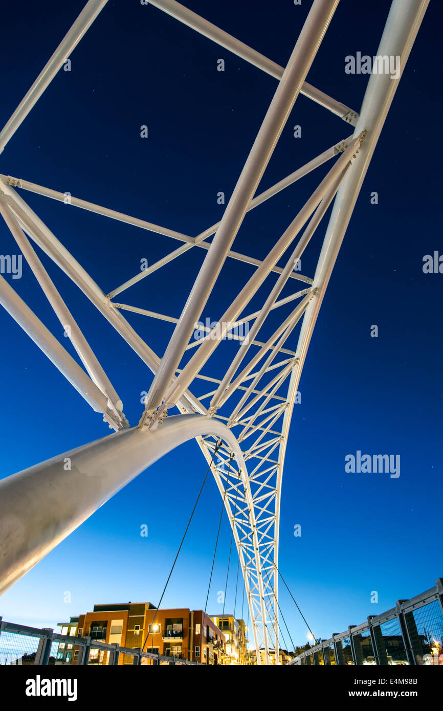 Sixteenth Avenue Bridge, Denver, Colorado USA - Stock Image