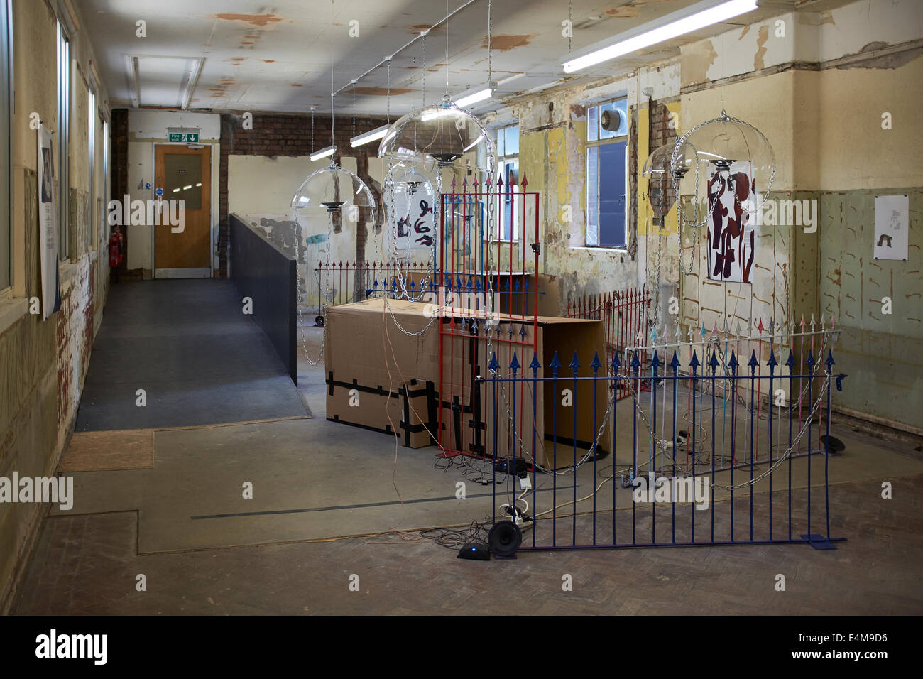 A sculpture gallery at the Liverpool Biennial 2014 in The Old Blind School - Stock Image