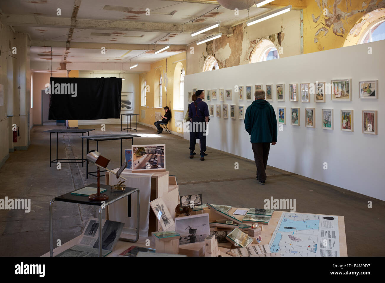 Visitors to the Liverpool Biennial 2014 at The Old Blind School - Stock Image