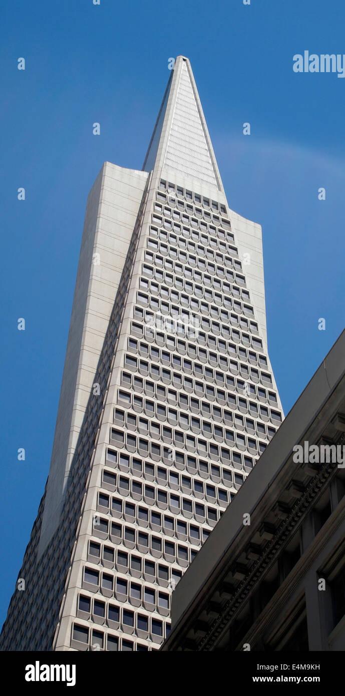Transamerica Pyramid San Francisco California - Stock Image