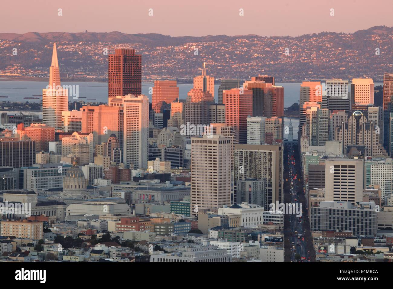 It was a fantastically clear evening on Saturday, and I snapped a few images of last light on downtown SF while Stock Photo