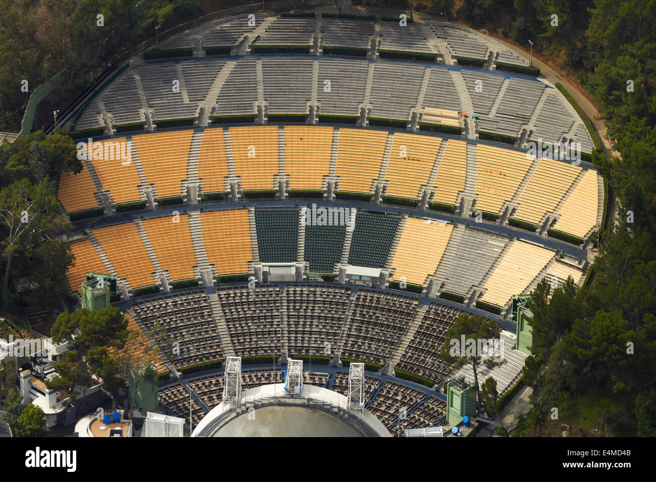 The Hollywood Bowl >> Hollywood Bowl Hollywood Los Angeles California Usa Aerial