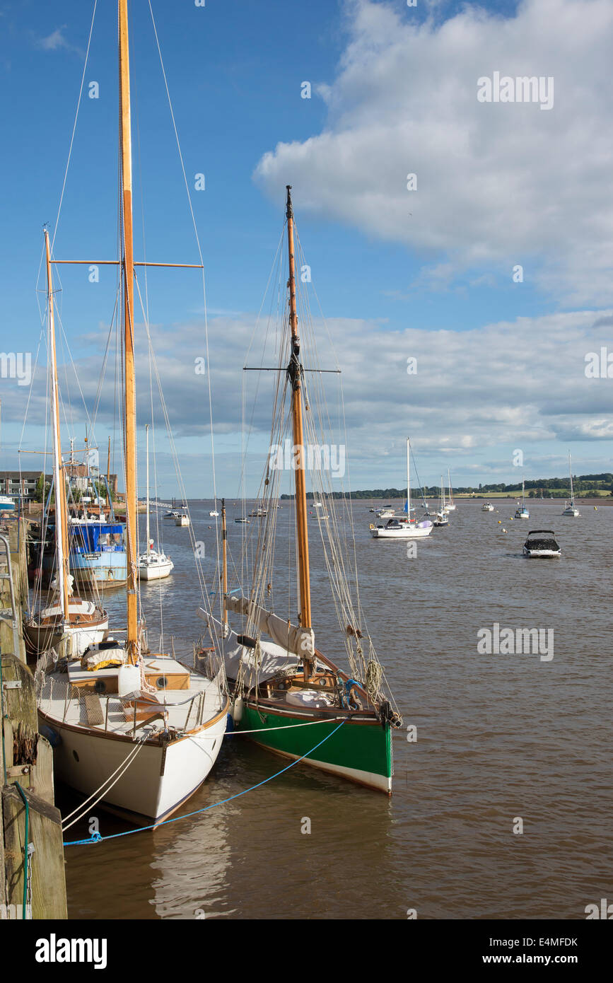 The Quay at Topsham on the River Exe in Devon England UK - Stock Image