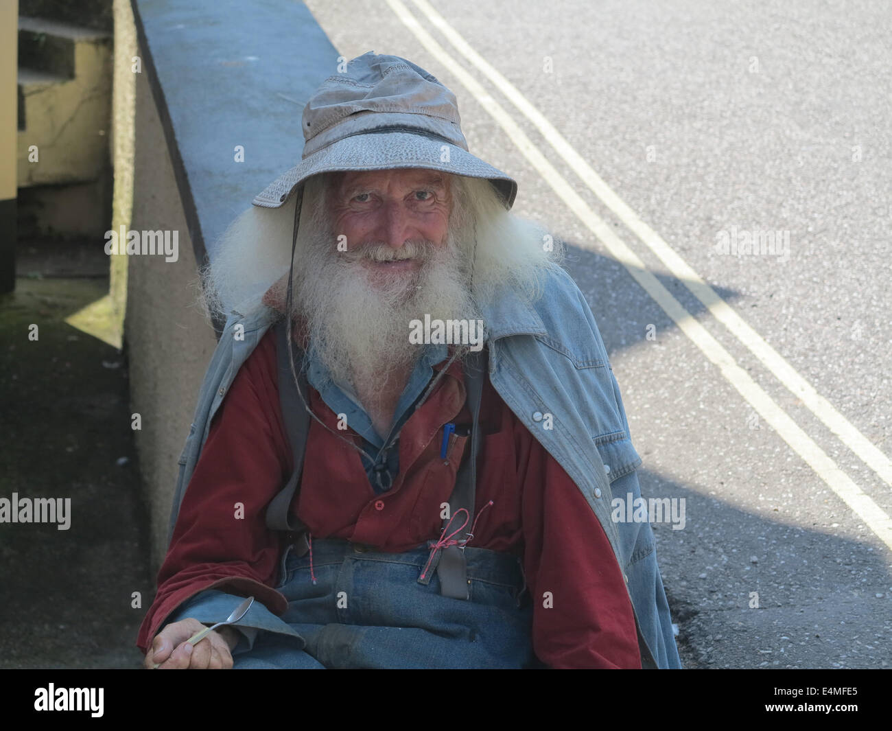 old man traveller - Stock Image