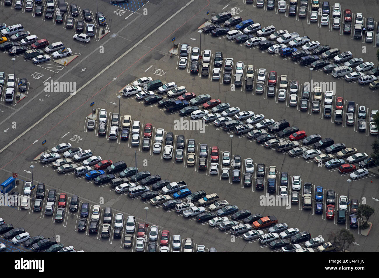 Car park, Los Angeles International Airport (LAX), Los Angeles, California, USA - aerial - Stock Image
