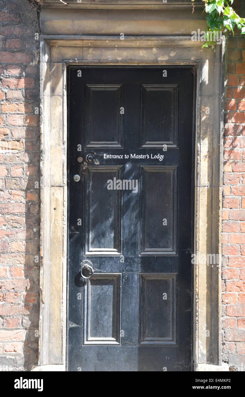 Door to masters lodge - Stock Image