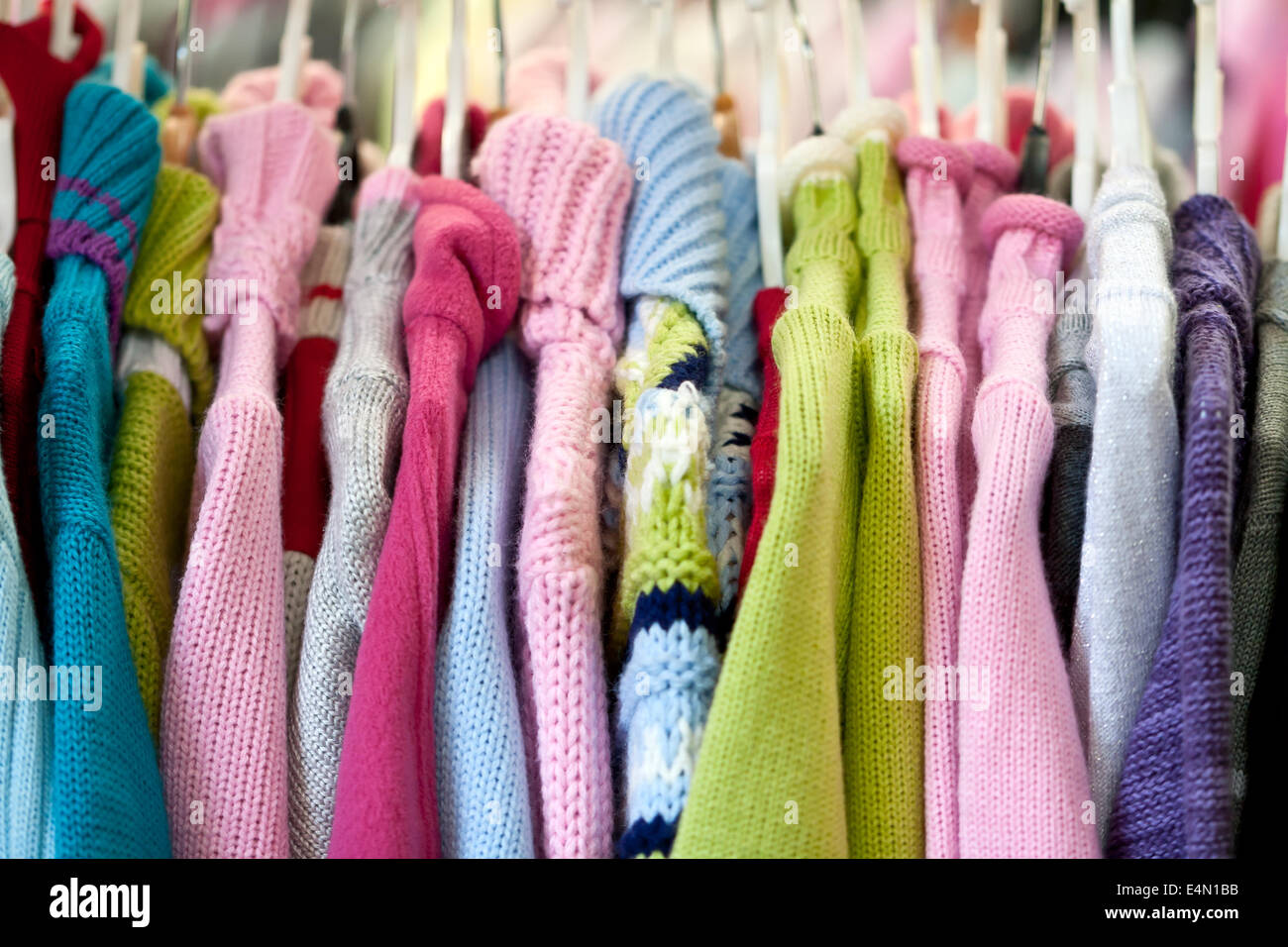 Children's knitted garments - Stock Image