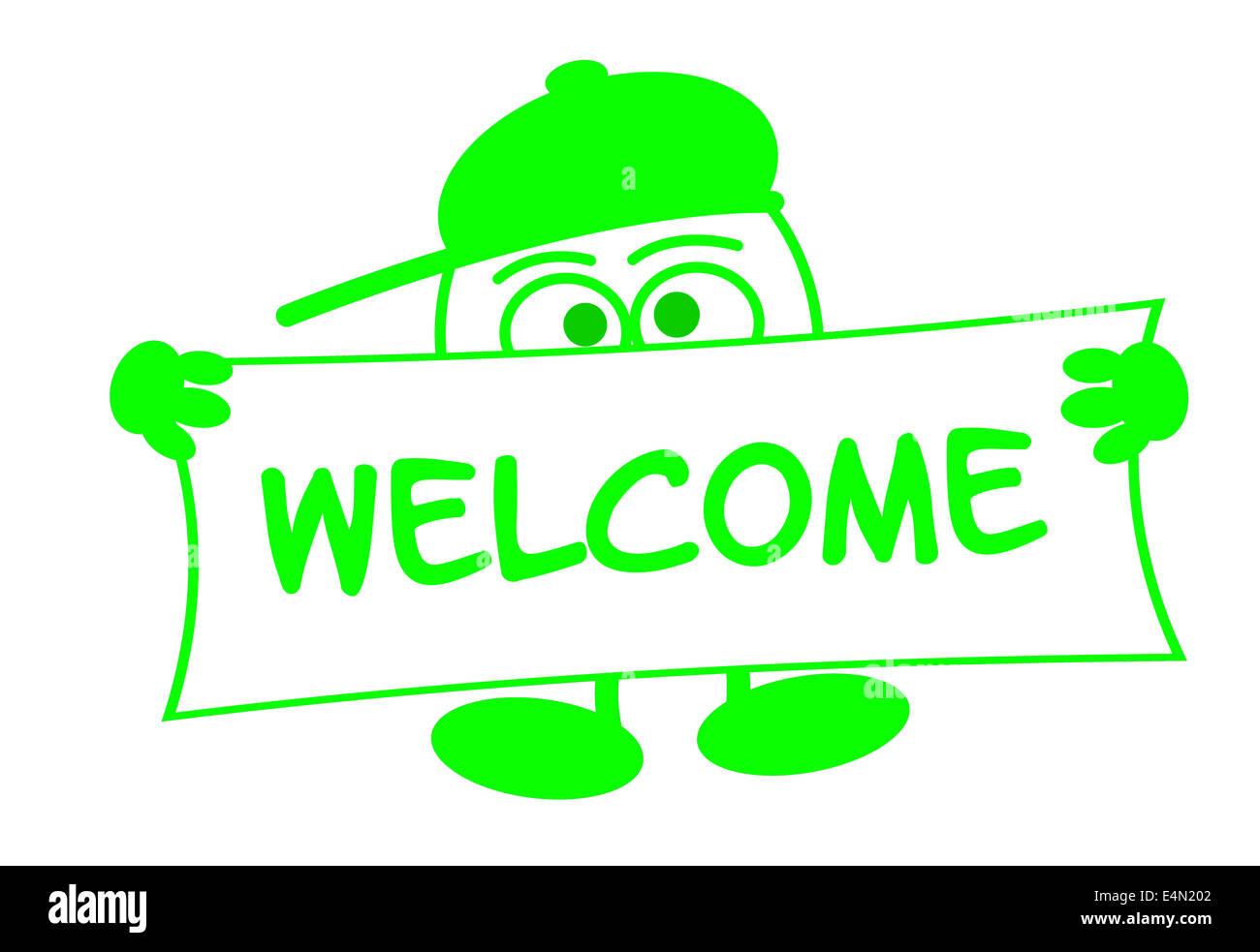 Eierkopf - Welcome Stock Photo