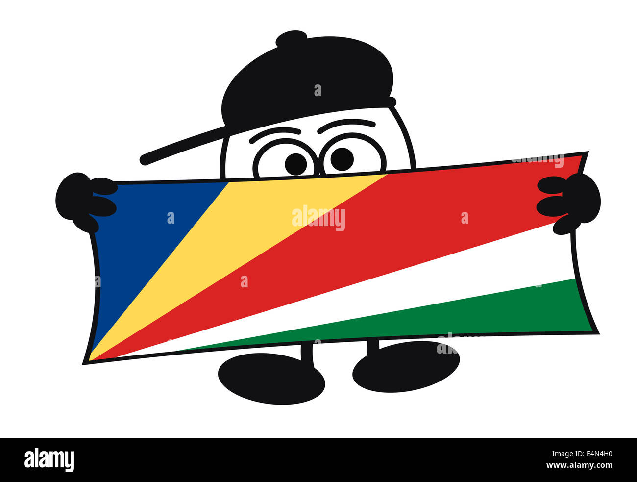 Eierkopf - Welcome Seychelles Stock Photo