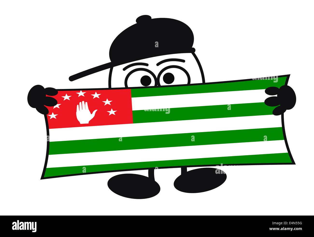 Eierkopf - Welcome Abkhazia Stock Photo