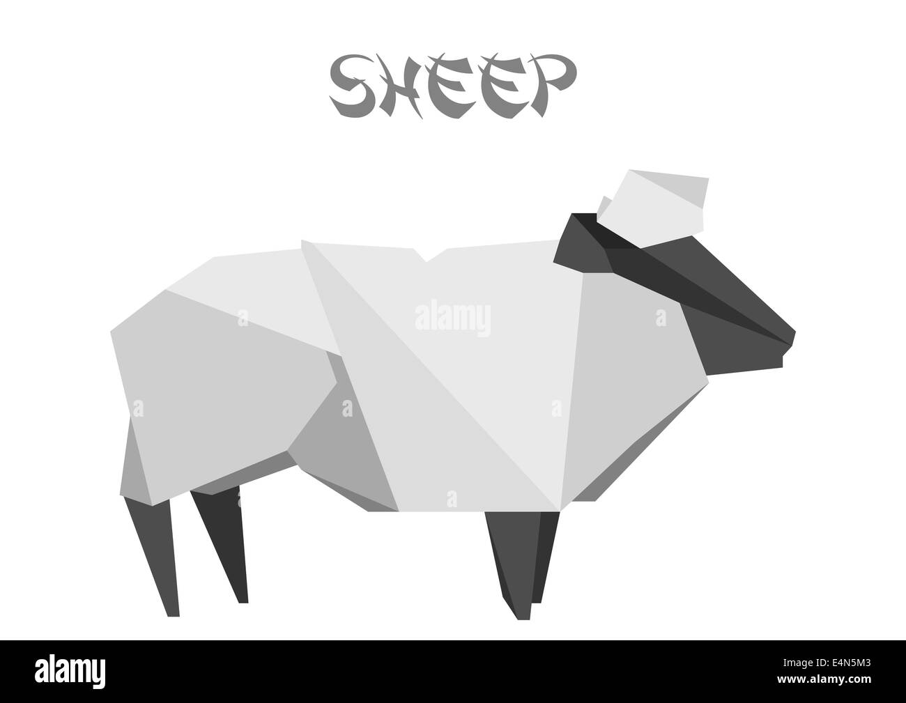 Origami Sheep Stock Photo 71765571