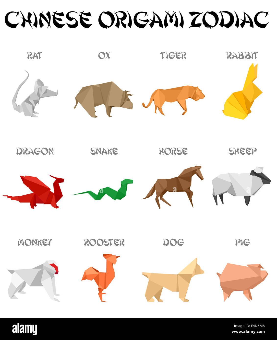 Chinese Horoscope Signs High Resolution Stock Photography And Images Alamy