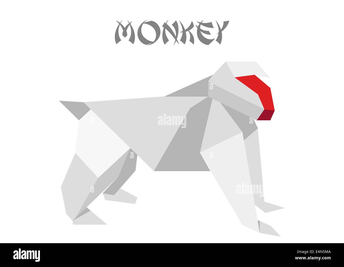 Origami monkey | 1009x1300