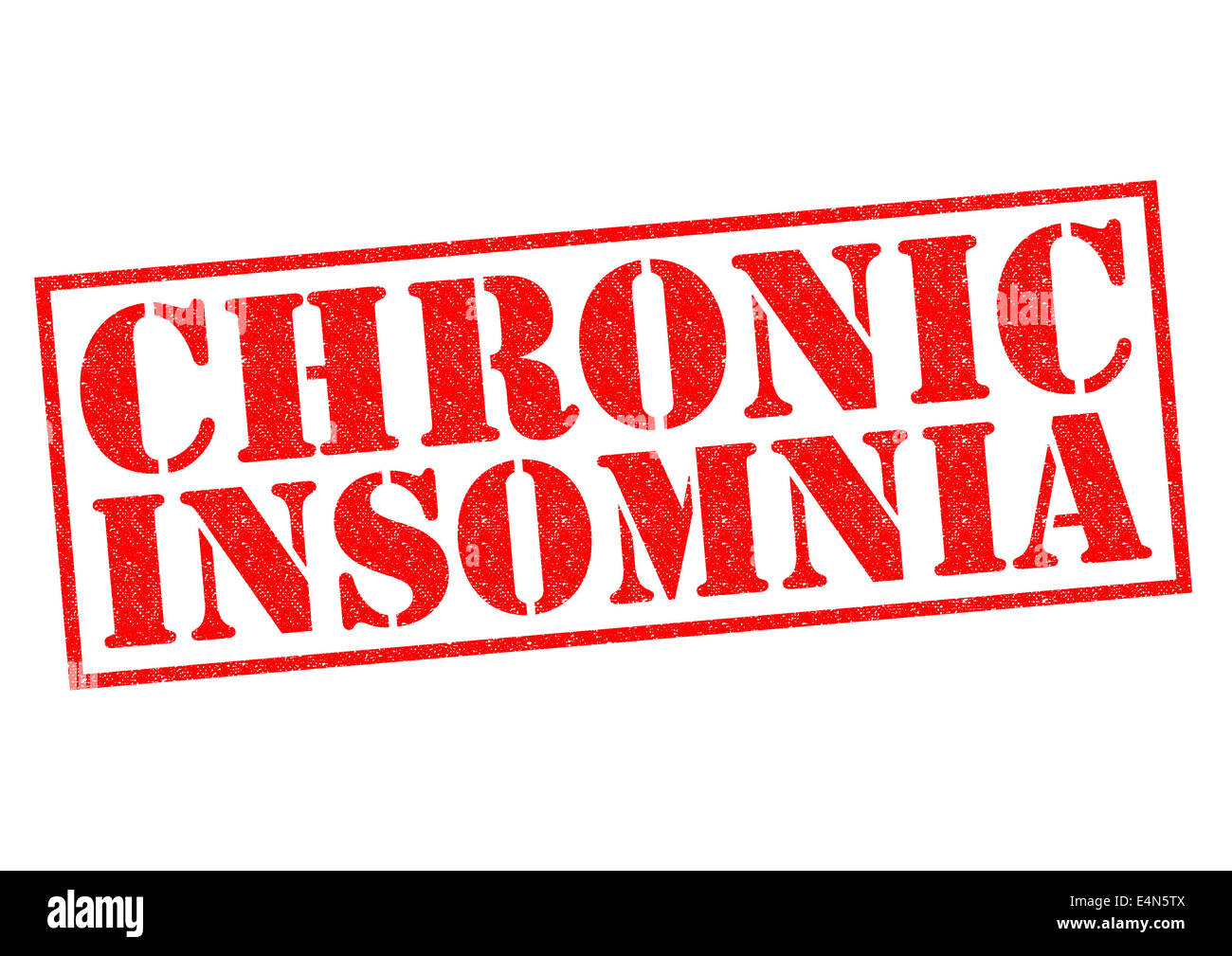 CHRONIC INSOMNIA red Rubber Stamp over a white background. - Stock Image