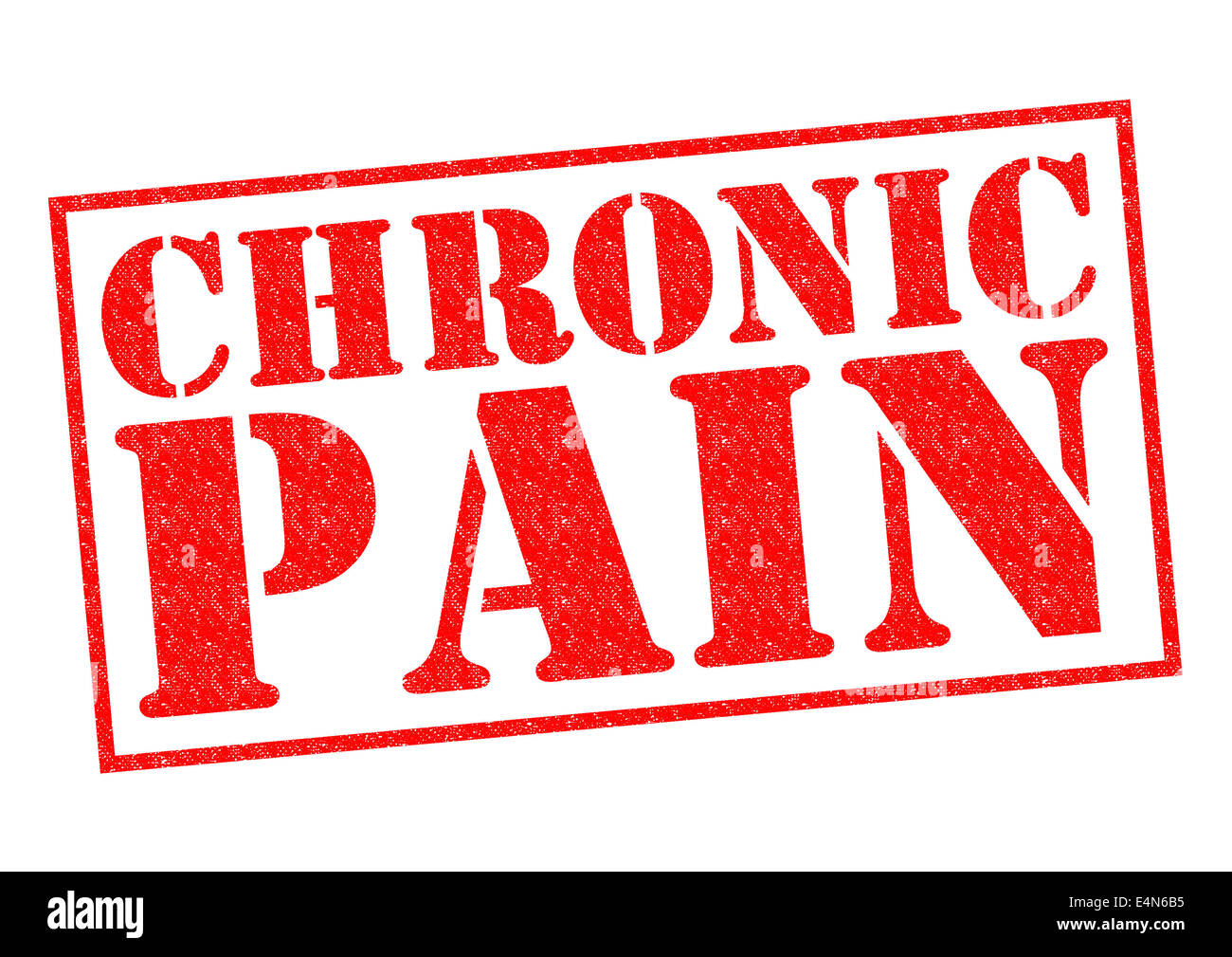 CHRONIC PAIN red Rubber Stamp over a white background. - Stock Image