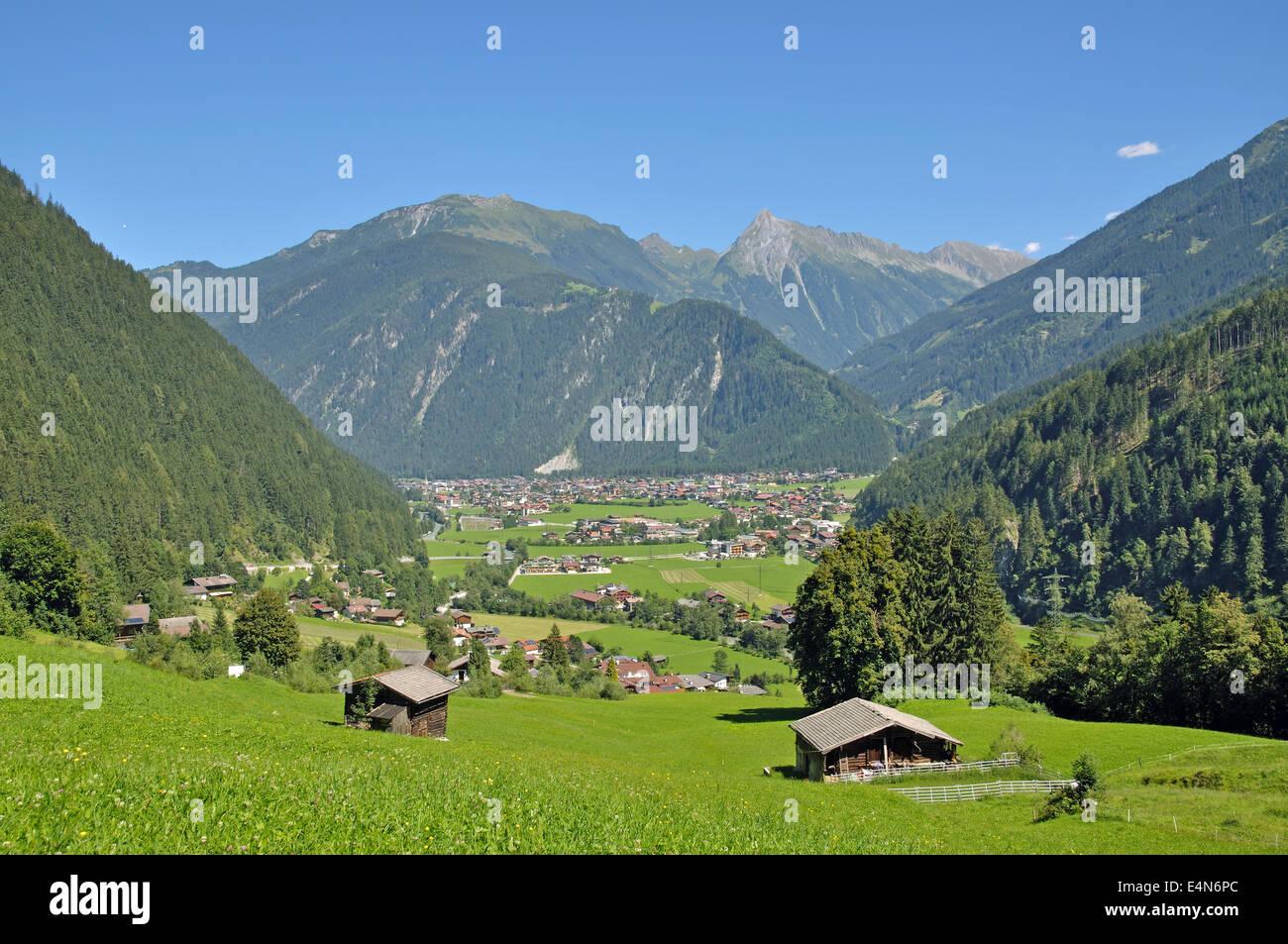 Mayrhofen,Zillertal Valley,Austria - Stock Image