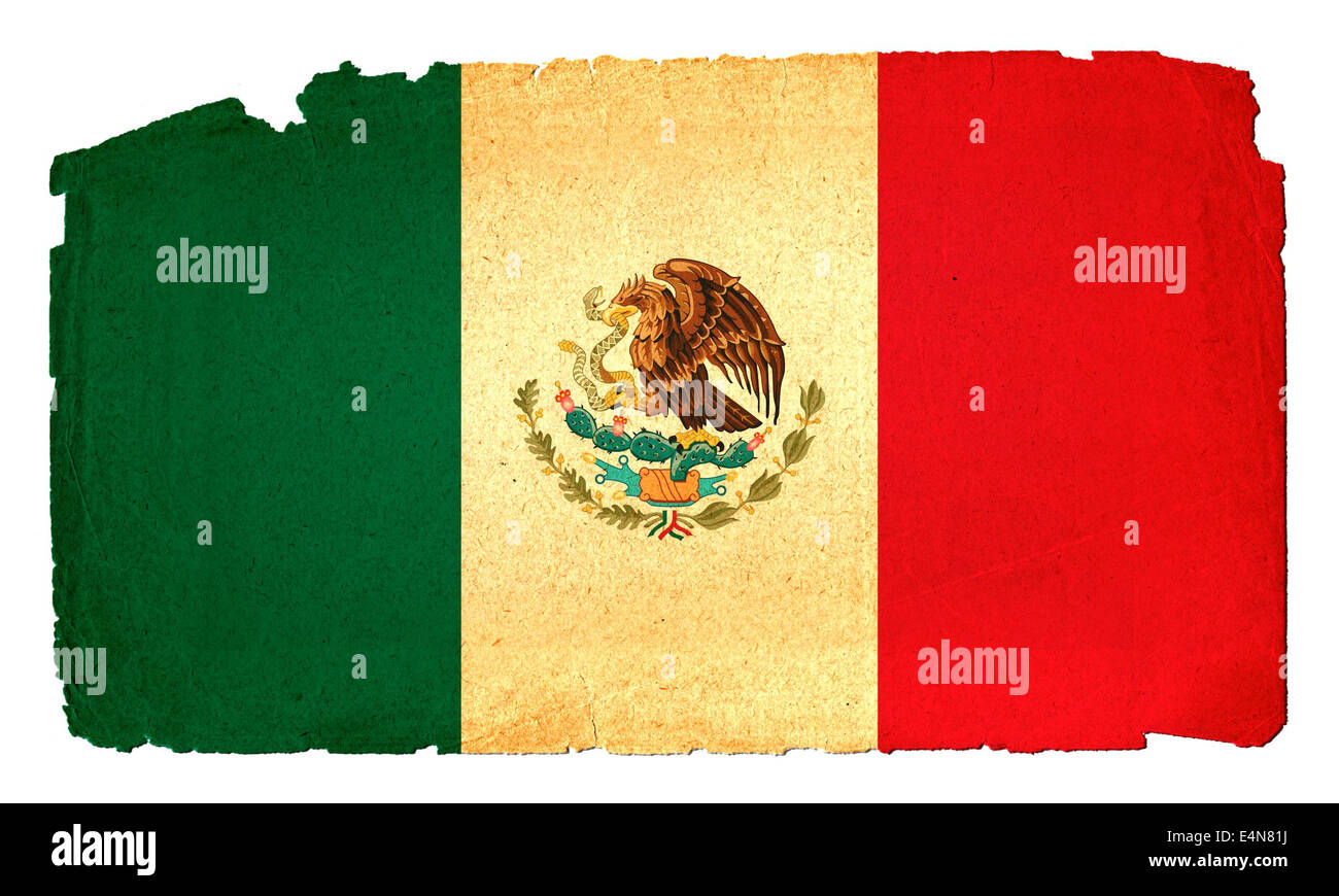 Grungy Flag - Mexico - Stock Image