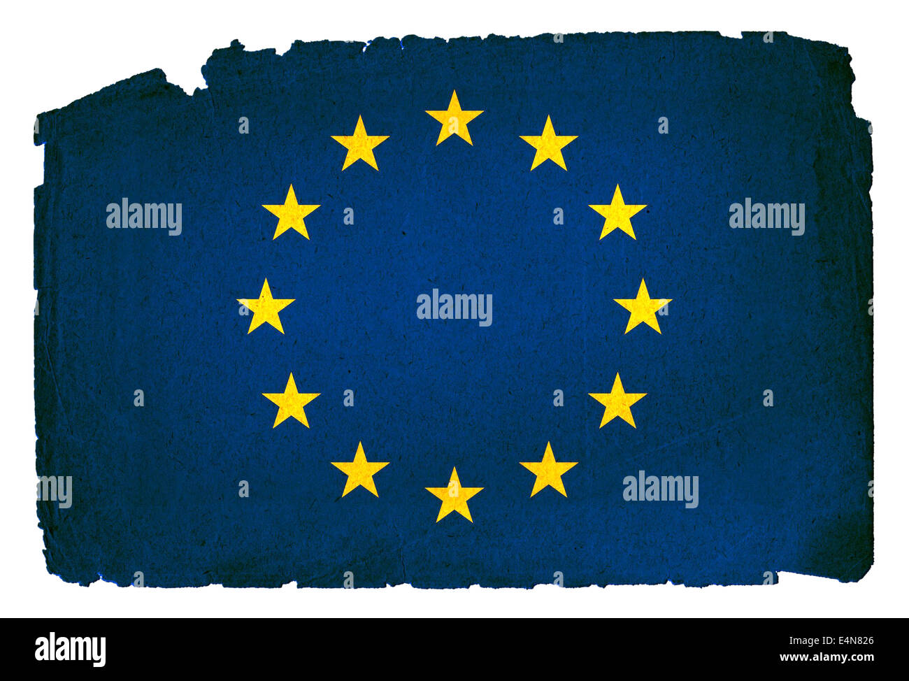 Grungy Flag - European Union - Stock Image