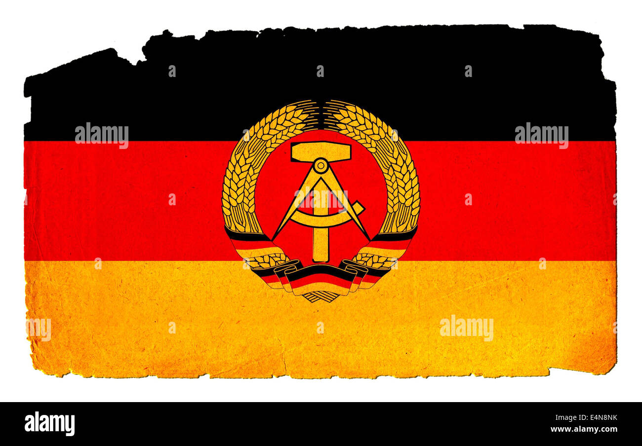 Grungy Flag - DDR - Stock Image