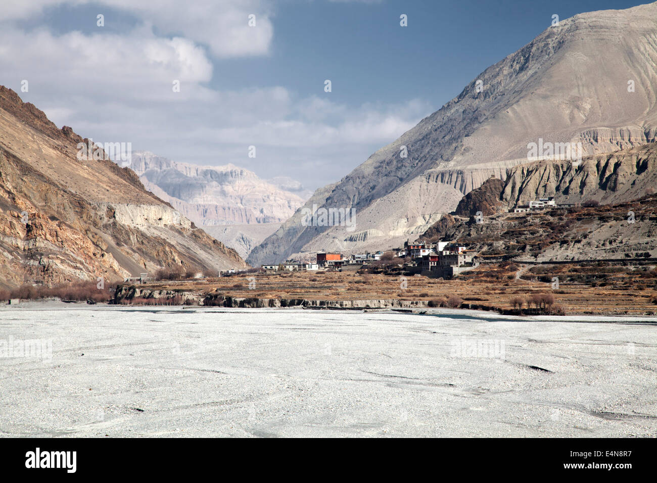 Jomsom to Kagbeni Trek, Mustang District, Annapurna, Himalayas, Nepal - Stock Image